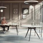 Arkitek bureau-mat-zwart-frame-wit-blad